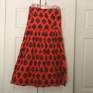 Old Navy Strapless Orange & Blue Dress Size 12